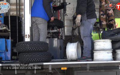 Camion d'assistance, montage des pneus
