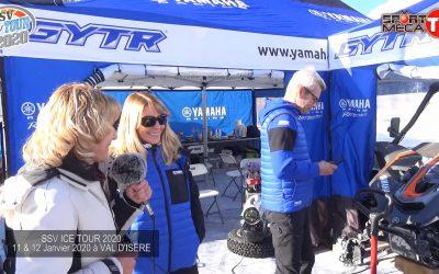 Visite au stand Yamaha à Val d'Isère