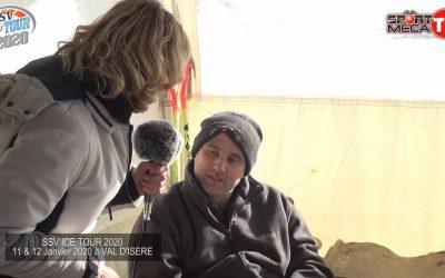 Hervé sur un Polaris à Val d'Isère